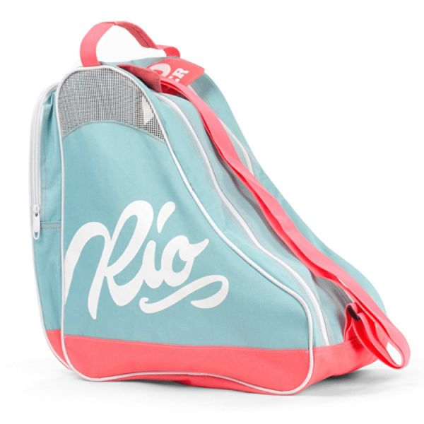 Rio Roller Script Skate Bag - Teal/Coral