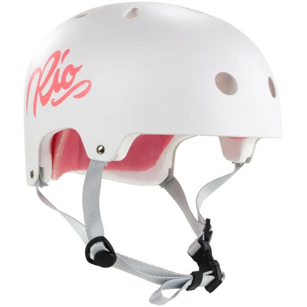 Rio Roller Script Helmet - White