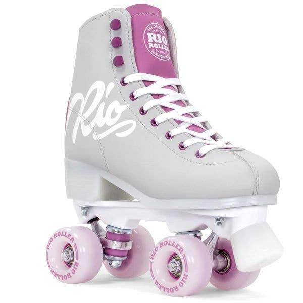 Rio Roller Script Quad Roller Skates - Grey/Purple