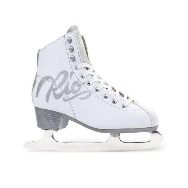 Rio Roller Script Ice Skates - White