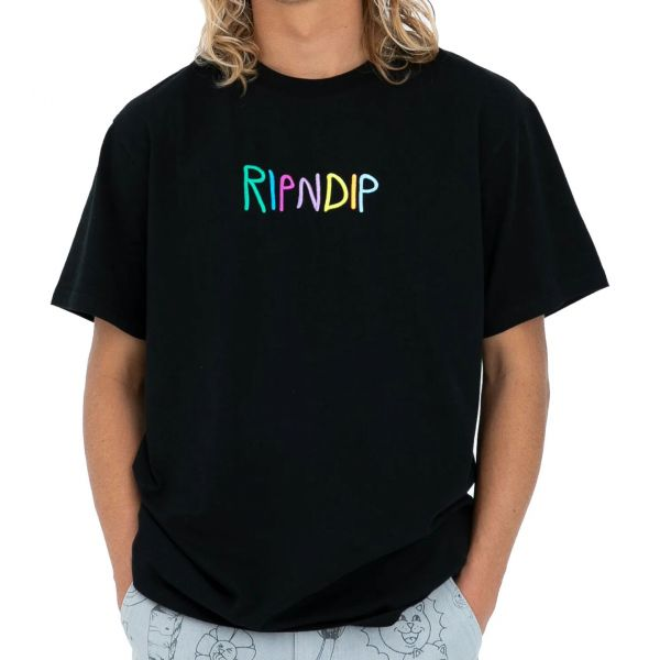 RIPNDIP Logo T Shirt - Black