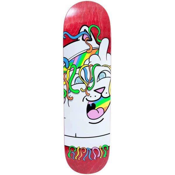 RIPNDIP Acid Playdo Skateboard Deck - Red 8.25''