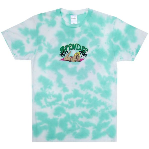 RIPNDIP Nermrider Beach T Shirt - Mint Cloud Wash