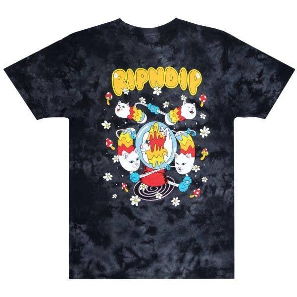RIPNDIP Space Gravy T Shirt - Black Lightning Wash