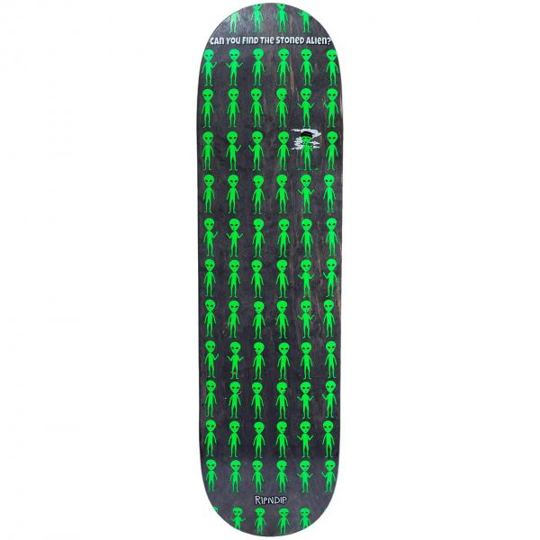 RIPNDIP Stoned Again Skateboard Deck - Black 8.25''