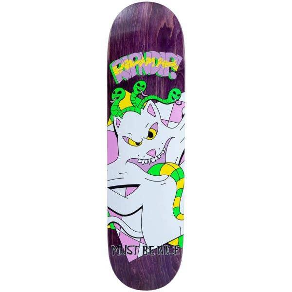 RIPNDIP Topanga Bandit Skateboard Deck - Purple 8.25''