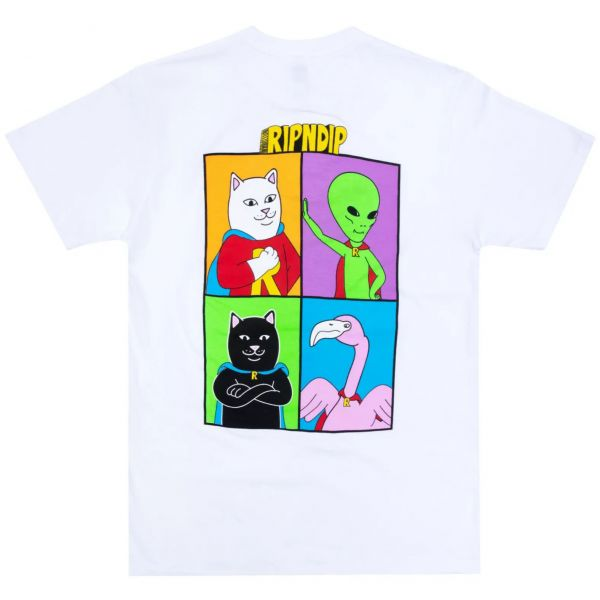 RIPNDIP We Can Be Heroes T Shirt - White