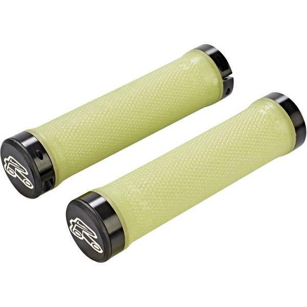 Renthal Kevlar Aramid Compound 130mm Lock-On Mountain Bike Grips - Yellow
