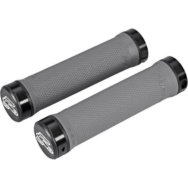 Renthal Medium Compound 130mm Lock-On Mountain Bike Grips - Medium Grey