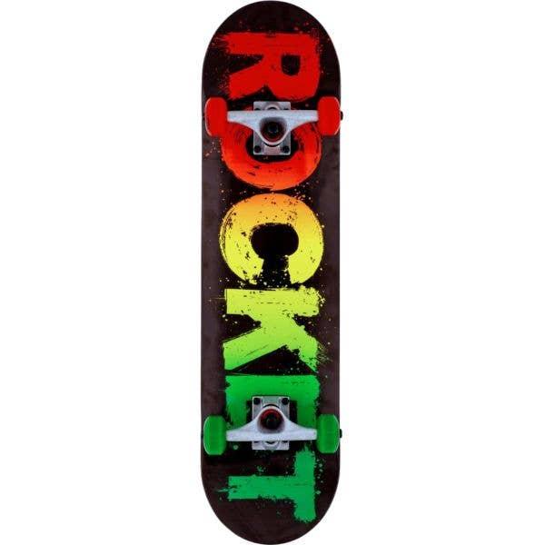 Rocket Rasta Fade Complete Skateboard - 8''