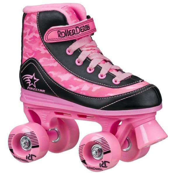 Roller Derby Firestar V2 Quad Roller Skates - Pink Camo
