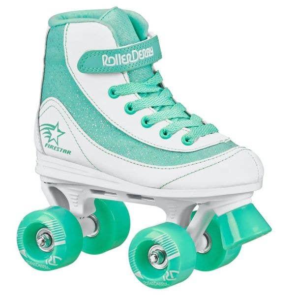 Roller Derby Firestar V2 Quad Roller Skates - White/Teal