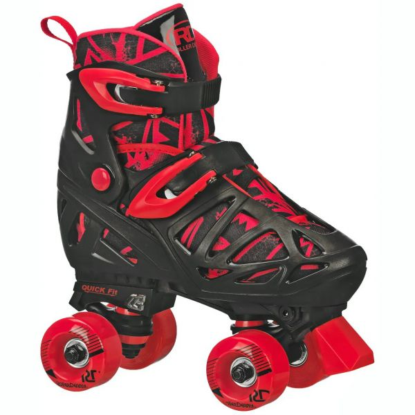 Roller Derby Trac Star V2 Quad Roller Skates - Black/Red