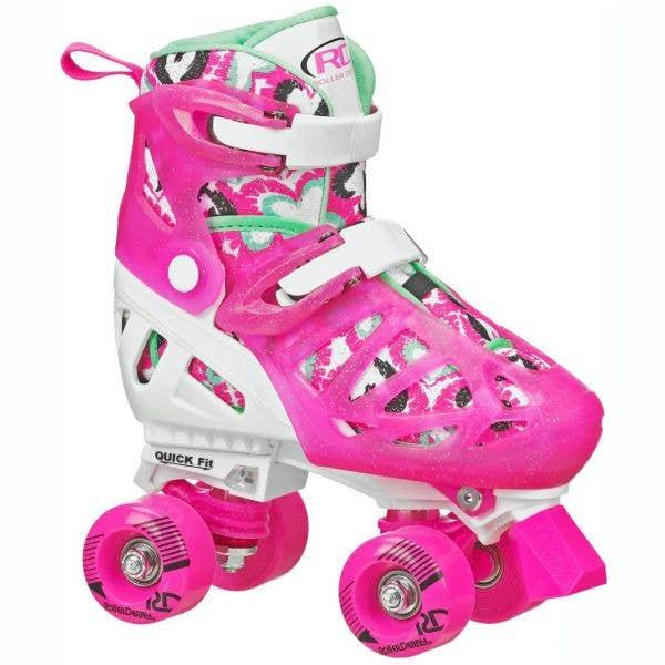 Roller Derby Trac Star V2 Quad Roller Skates - White/Pink
