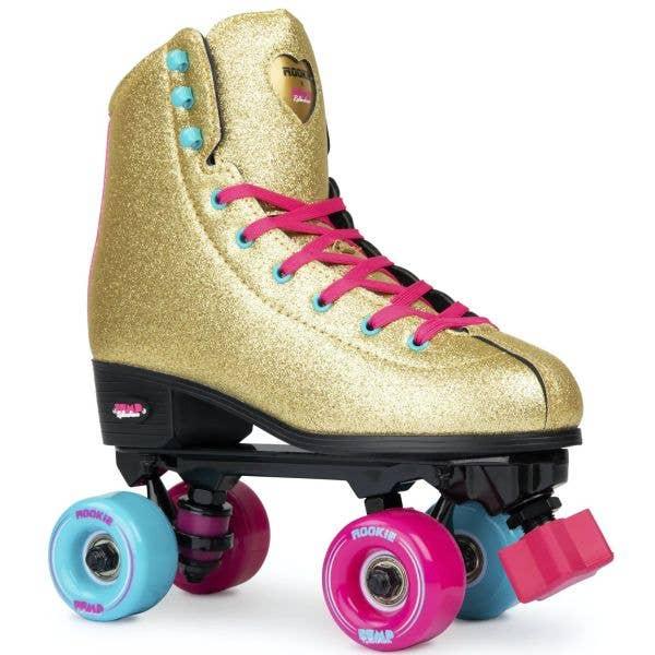 Rookie Bump Rollerdisco Quad Roller Skates - Gold