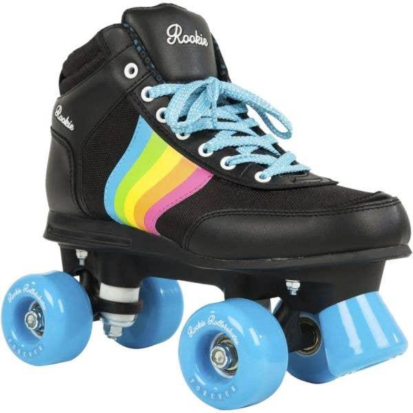 Rookie Forever Rainbow Quad Roller Skates - Black