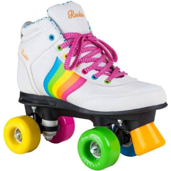 Rookie Forever Rainbow Quad Roller Skates - White
