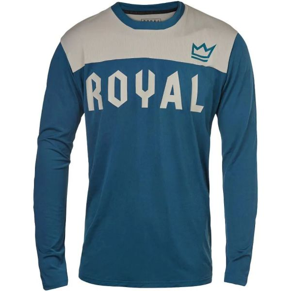 Royal Apex Long Sleeve Jersey - Grey/Petrol