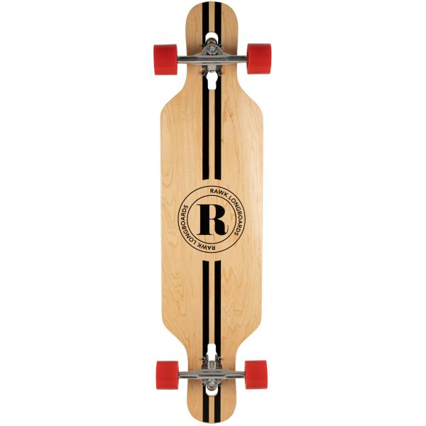 Rawk R1 Retro Drop Through Complete Longboard - 40''
