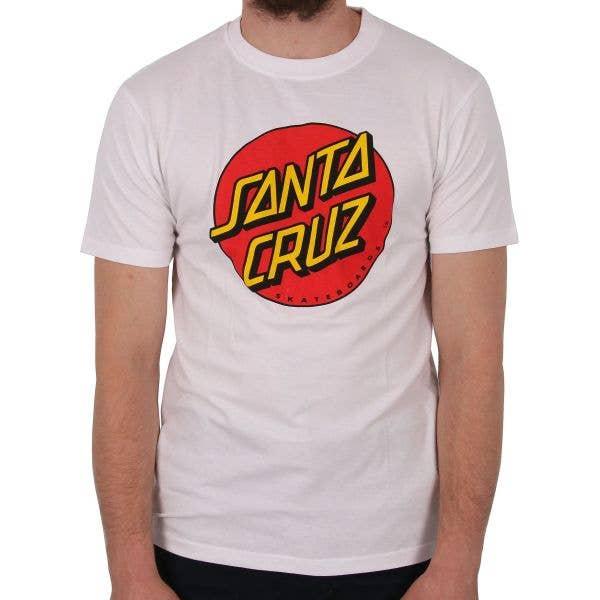 Santa Cruz Classic Dot T Shirt - White