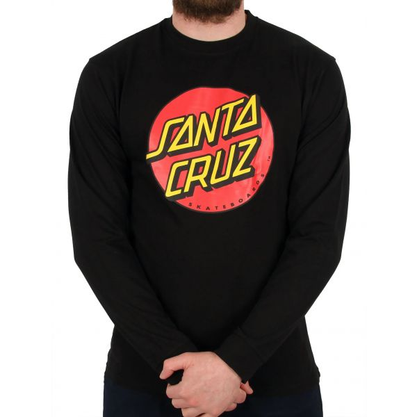 Santa Cruz Classic Dot Long Sleeve T Shirt - Black