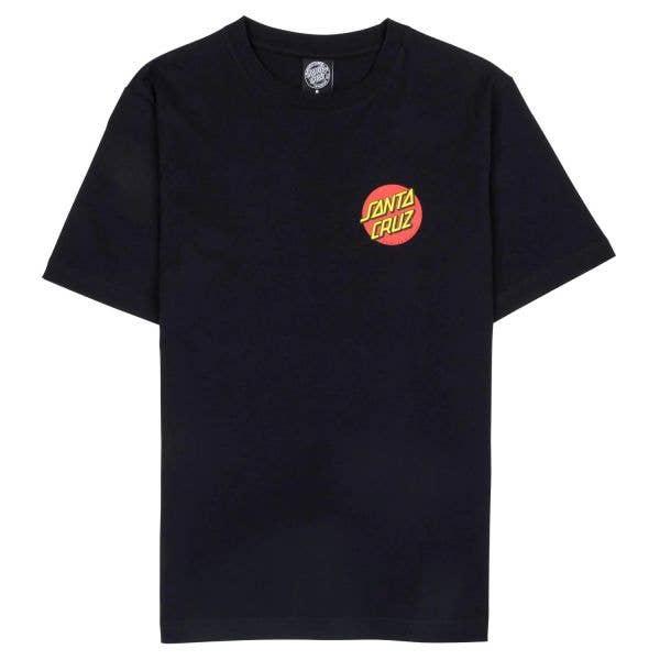 Santa Cruz Classic Dot Chest T Shirt - Black