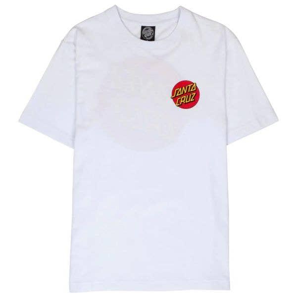 Santa Cruz Classic Dot Chest T Shirt - White