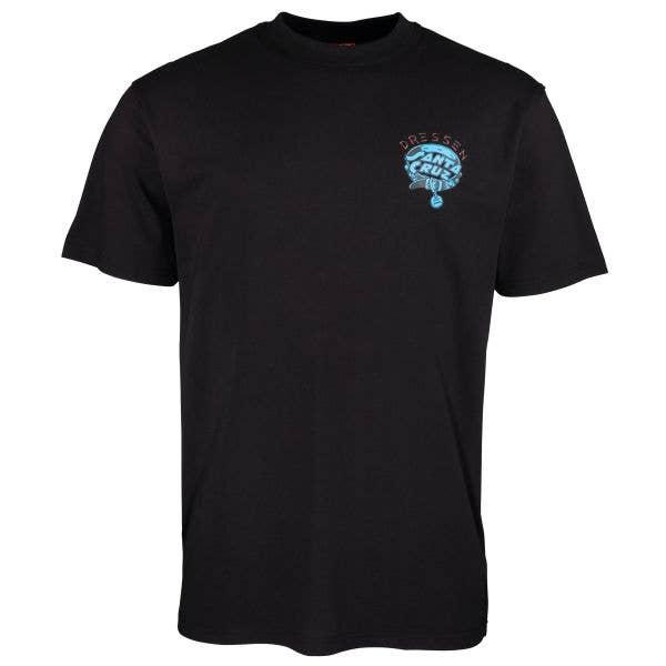 Santa Cruz Dressen Pup Dot Chest T Shirt - Black