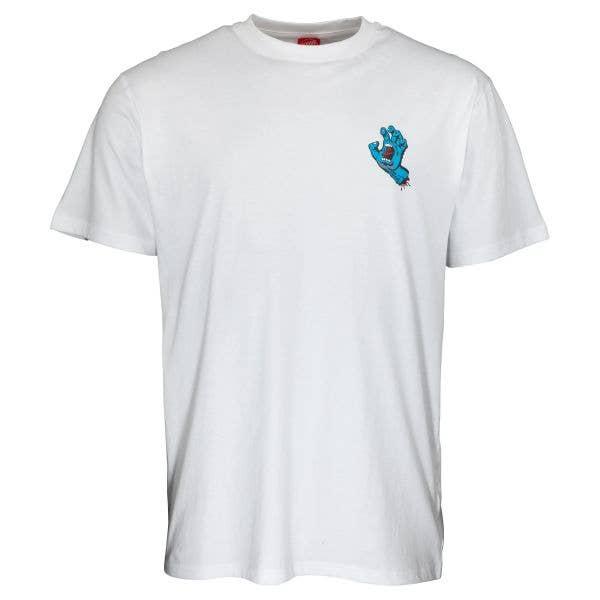 Santa Cruz Screaming Hand Chest T Shirt - White