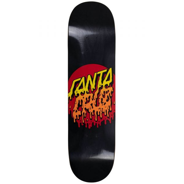 Santa Cruz Rad Dot Skateboard Deck - Black 8''