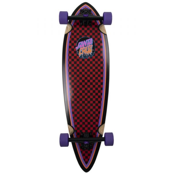Santa Cruz Rad Dot Pintail Complete Cruiser Skateboard - Multi 33''