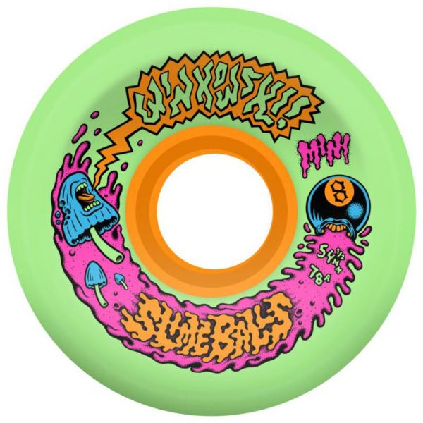 Santa Cruz Slime Balls Winkowski Mini OG Slime 78a Skateboard Wheels - Multi 54mm