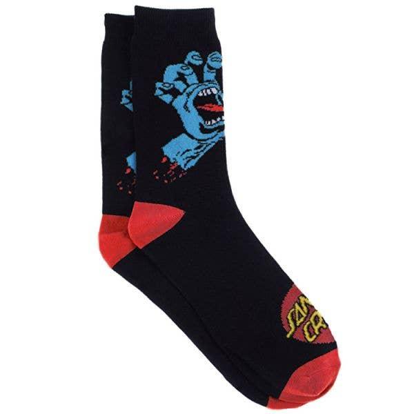 Santa Cruz Screaming Hand Socks - Black