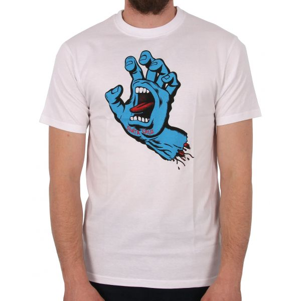 Santa Cruz Screaming Hand T Shirt - White