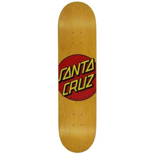 Santa Cruz Classic Dot Skateboard Deck - Yellow 7.75''