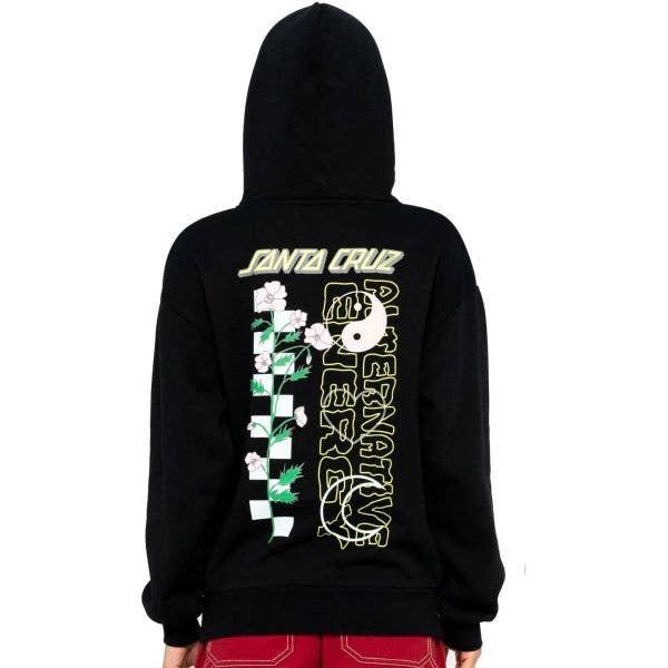 Santa Cruz Alt. Energy Womens Hoodie - Black