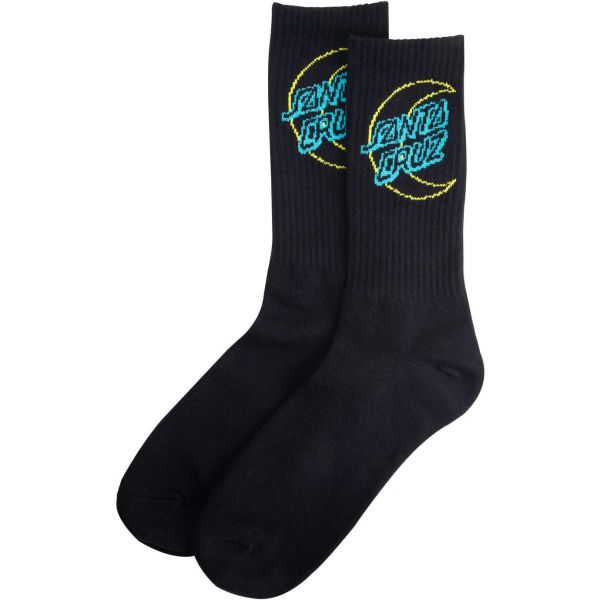 Santa Cruz Empty Moon Dot Socks - Black