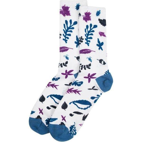 Santa Cruz Foliage Socks - White