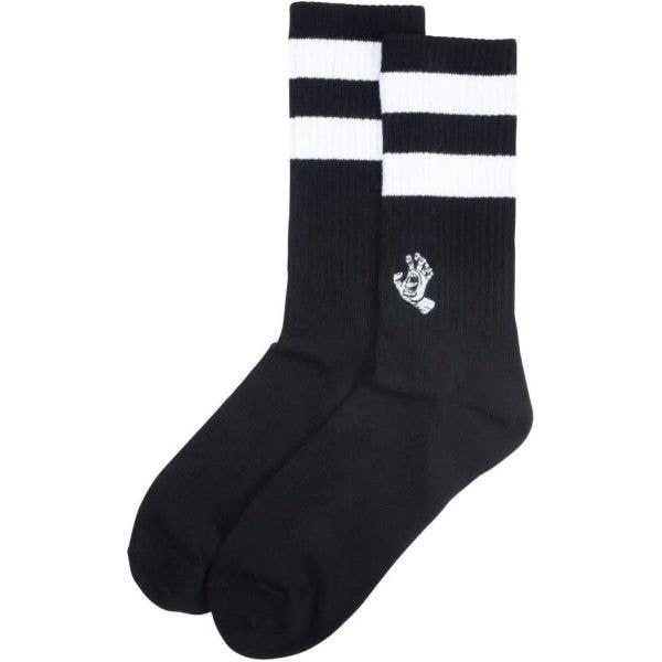 Santa Cruz Mini Mono Hand Twin Stripe Socks - Black