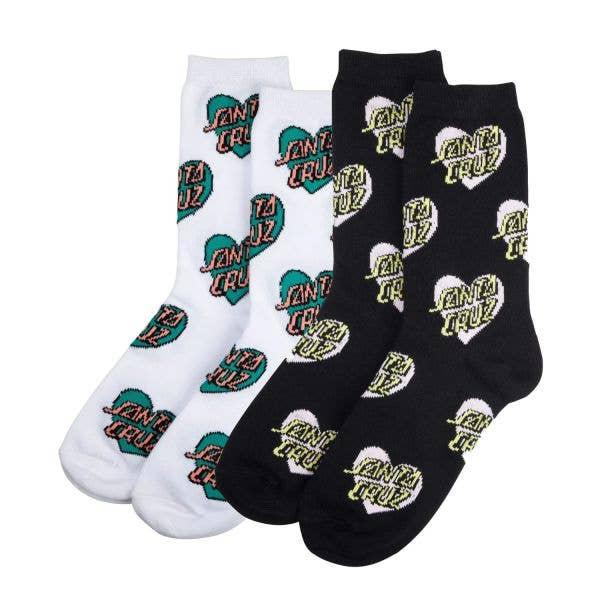 Santa Cruz Multi Heart Dot Womens Socks - Assorted (2 Pack)