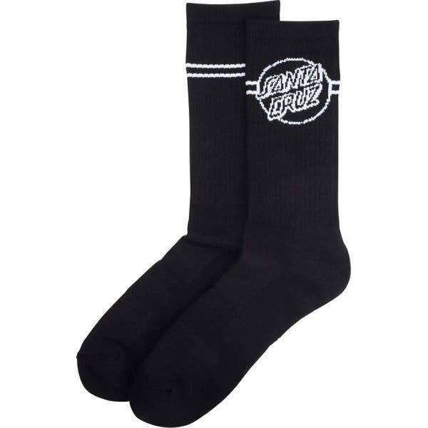 Santa Cruz Opus Dot Stripe Socks - Black/White