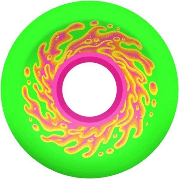 Santa Cruz Slime Balls OG Slime 78a Skateboard Wheels - Green/Pink 54.5mm
