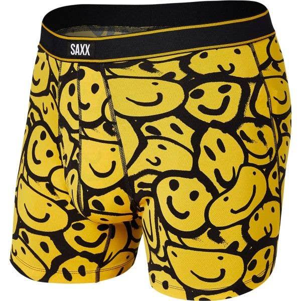 Saxx Daytripper Boxer Briefs - Yellow Smile Melt