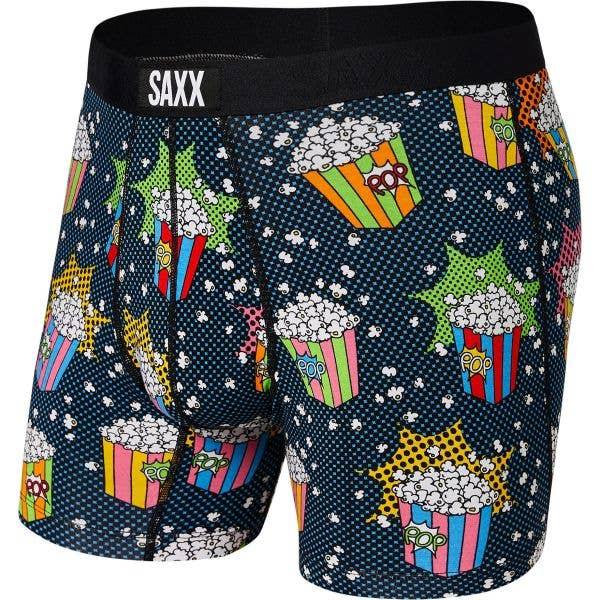 Saxx Vibe Boxer Briefs - Multi Pop Art Popcorn
