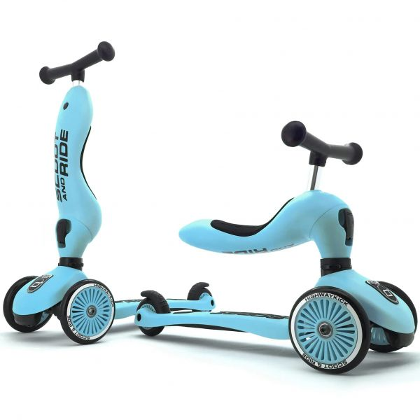 Scoot and Ride Highway Kick 1 Kids Scooter - Blueberry