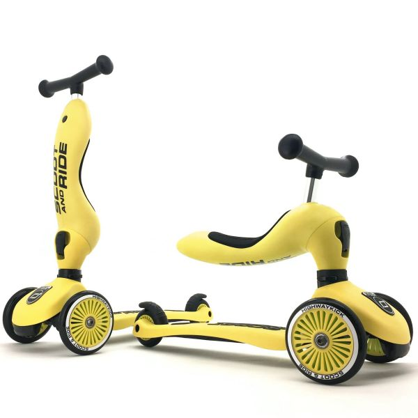 Scoot and Ride Highway Kick 1 Kids Scooter - Lemon