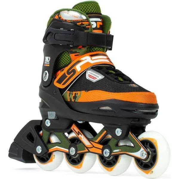 SFR Pixel Adjustable Inline Skates - Green/Orange