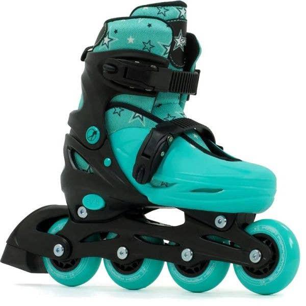 SFR Plasma Adjustable Inline Skates - Black/Green