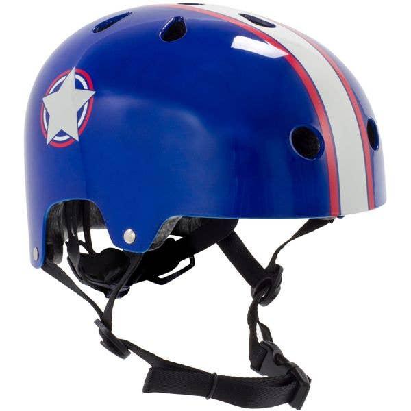 SFR Adjustable Kids Helmet - Blue/Silver