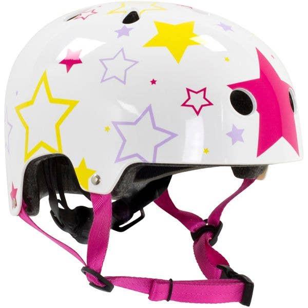 SFR Adjustable Kids Helmet - White/Pink